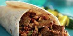 Cajun Beef and Bean Burritos