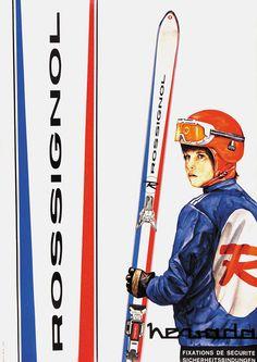 Bisherige Auktionen Vintage Ski, Posters Vintage, Photo Vintage, Ski Equipment, Ski Mountain, Ski Posters, Stone Columns, Alpine Skiing, Vintage Hawaii