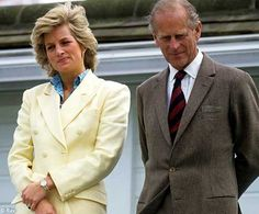 with Prince Philip, her father-in-law. Both have interesting grimaces on their faces as if someone stumbled in the midst of eastern egg hunting.