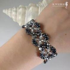 Bogata i romantyczna,kryształowa bransoletka - Bransoletki - Biżuteria