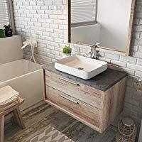 Badezimmer Badmobel Indiana 90 Cm Nature Wood Unterschrank Schrank Waschbecken Waschtisch Kuche Haushalt Unterschrank Waschbecken