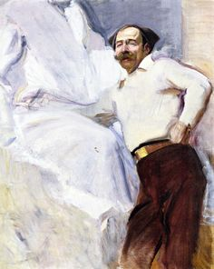 The Athenaeum - The Sculptor Mariano Benlliure (Joaquin Sorolla y Bastida - Guy Drawing, Painting & Drawing, Madrid, Spanish Painters, Oil Painters, Oil Painting Reproductions, Traditional Paintings, American Artists, Cool Art