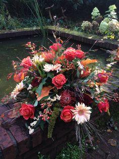 #Rouwbloemen #herfst #BLOM #BLoemwerkOpMaat #Wageningen #Bennekom #Renkum met materiaal van kwekerij #Bisselingskaat