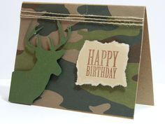 Deer birthday card camouflage birthday card cards for hunter buck silhouette camouflage birthday greeting card by designsbycnc bookmarktalkfo Image collections