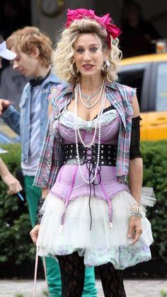 Sarah Jessica Parker, 80s costume, madonna wannabe