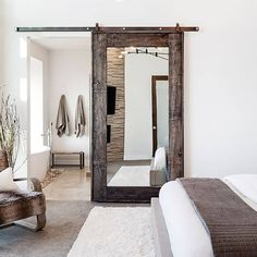 best diy home alarm 2017 – DIY Home Decor Remedies – Audioroom Over The Door Mirror, Mirror Door, Farmhouse Style Bedrooms, Modern Farmhouse Style, Modern Rustic, Farmhouse Decor, Small Bedroom Furniture, Home Decor Bedroom, Bedroom Ideas