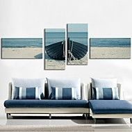 Stretched+Canvas+Art+Shore+Boat+Set+of+4+–+USD+$+103.99
