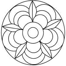 Výsledek obrázku pro mandala šablona