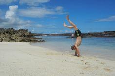 Gunnar Garfors on the beach