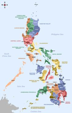 Provinces Of The Philippines Image Map Wikipedia - Labelled Map Of The Philippines Philippines Geography, Regions Of The Philippines, Voyage Philippines, Philippines Vacation, Philippines Beaches, Philippines Culture, Palawan, Bohol, World Maps