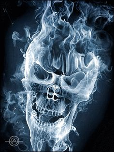 Smoke Skull [make certain to hit the 'play' button on this pin...  Wow!!!]