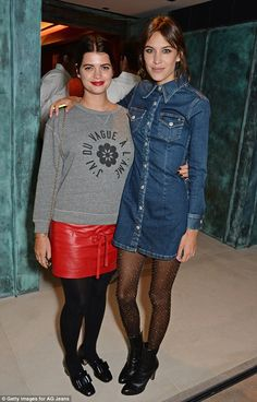 Pixie Geldof and Alexa Chung - Launch Party for Alexa Chung's AG Jeans Collection.  (January 15, 2015)