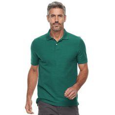 Men's Croft & Barrow® Tailored-Fit Polo, Size: Medium, Turquoise/Blue (Turq/Aqua)