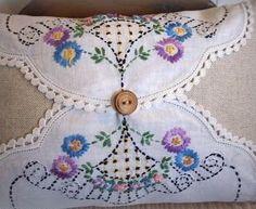 Doileys in cushion