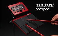 De Nord Drum 2 maakt zijn debuut op de Musikmesse in Frankfurt en wordt aangevuld door Nord's eigen Pad percussiepad. #baxdroomstudio