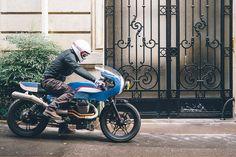 Eighties Influence - 4H10 Moto Guzzi V7 by 4h10 via returnofthecaferacers.com
