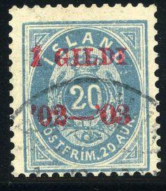 Iceland 20a blue 1902. [Mi: 30B, Facit: 61]