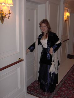 My Titanic Rose Flying Dress costume reproduction made by @Christine Hall Designs
