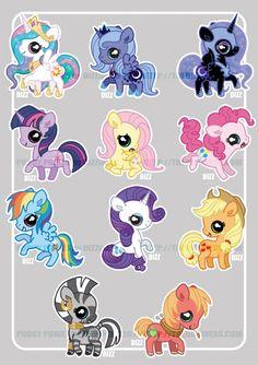 Pudgy Pony - FiM cuties by =dizziness on deviantART