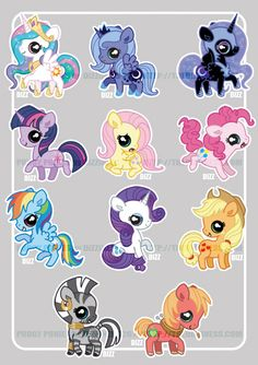 Pudgy Pony - FiM cuties by =dizziness on deviantART