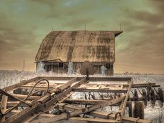 Photograph - On The Farm by Jane Linders , Infrared Photography, Farm Barn, Old Barns, Old Buildings, Wall Art, Nature, Pictures, Sheds, Farms