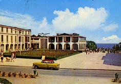 1973 Postcard from Romania, Mangalia featuring an early OPEL Olympia Rekord and a baby carriage :) Baby Carriage, Black Sea, Time Travel, Olympia, Romania, Childhood Memories, Postcards, Volkswagen, Cities