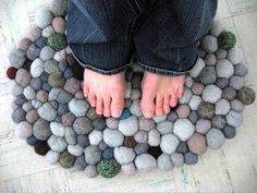 7 Doormats You Can Make For Yourself this reminds me of socks. Old socks rolled up. Another idea :)