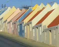 Caribbean: colorful homes in Otrabanda in Willemstad, Curacao once belonged to slaves. Many have now been restored