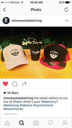 79a587a8be7 New hats.watch site for update. What s your lake story