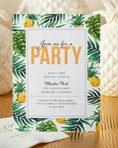 Aloha invitiations invites birthday wedding engagement have your friends join you for a tropical party this summer with a unique personalized invitation from tiny prints stopboris Images