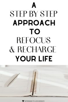 This step by step approach will help you refocus and recharge your life. Skinny Motivation, Need Motivation, Goals Planner, Life Planner, Goal Setting Worksheet, The Embrace, Coping Skills, Life Purpose, How To Stay Motivated