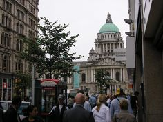 City Hall in Belfast, Northern Ireland. Construction began in 1898 and was completed in 1906.