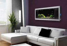 Purple wall with an aquarium built in?  Let me think about that...  :D