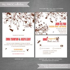Printable Wedding Invitation and RSVP   by iheartstationeryshop, $35.50