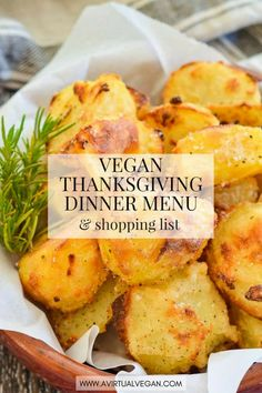 Use my Vegan Thanksgiving Dinner Menu (Meal Plan), Shopping List and Time-line for an easy, stress-free Thanksgiving. Just print it out, shop amp; it step by step. via avirtualvegan Vegan Keto, Healthy Vegan Dessert, Vegan Foods, Vegan Dishes, Eating Healthy, Vegan Food List, Eating Vegan, Clean Eating, Vegan Thanksgiving Dinner