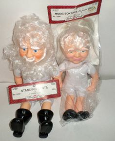Vintage Santa and Mrs Claus Dolls for Decorating by carriesattic, $20.00