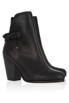 KINSEY LEATHER ANKLE BOOTS #Rag #Givted