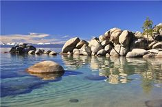 Chimney Beach Cove, Lake Tahoe, Nevada.  Had some great times at this out of the way gem.