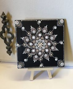Mini Dot Art Painting 5 X 5 Canvas With Mini Easel Display