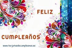 Feliz Cumpleaños motivos florales - ツ Imagenes y Tarjetas para Felicitar en Cumpleaños ツ