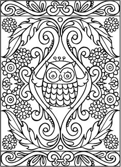 SPARK Owls Coloring Book sample pages @ Dover Publications