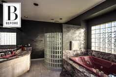 Before and After: This '90s Bathroom Was a Seriously Sexy Beast