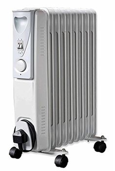 9971eb74027 MP Essentials 2000W Floor Standing Oil Filled Radiator Heater with  Thermostat - White