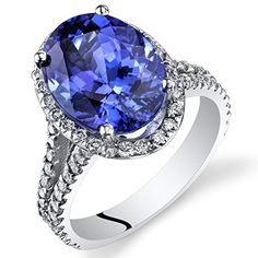 6.57 Carats Oval Shape Tanzanite Diamond Ring in 14Kt White Gold Peora http://www.amazon.com/dp/B00FX3P0WC/ref=cm_sw_r_pi_dp_pcUivb09TDK4Y