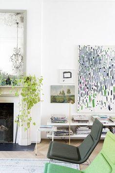Détail de la décoration du salon d'une grande maison londonienne