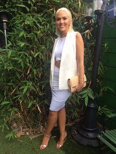 Australian singer Sabryna wearing the Parallel Cuff // Cristina Ramella Jewelry