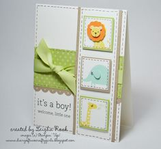 great design for a baby card, lots of images would work