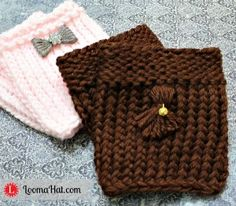Loom Knit Boot Cuffs – Easy FREE Pattern and Video...incorporate tassels on crochet cuffs.