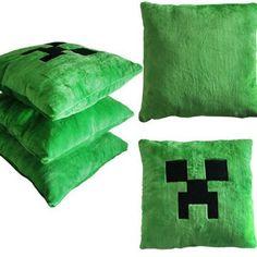 Minecraft Creeper Green Pillow Cushion - http://geekarmory.com/minecraft-creeper-green-pillow-cushion/