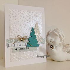 J'espère que vous allez bien!) Pour ma part, j'a… – Best Pins Live Scrapbook Christmas Cards, Christmas Tree Cards, Christmas Gift Tags, Christmas Greetings, Scrapbook Cards, Handmade Christmas, Holiday Cards, Winter Cards, Card Making Inspiration